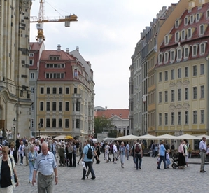 Dresden, in der Nähe der Frauenkirche