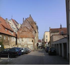 Kugelgartenstraße von Waffenstraße aus